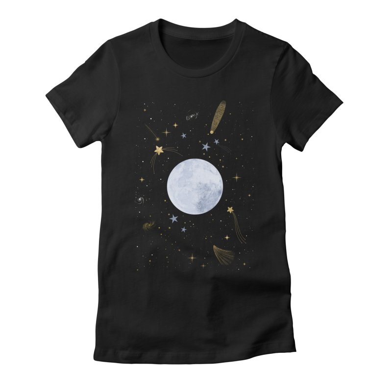 Magic Night Women's Fitted T-Shirt by carlywatts's Shop