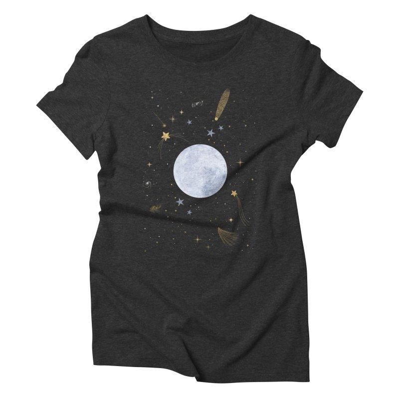 Magic Night Women's Triblend T-Shirt by carlywatts's Shop
