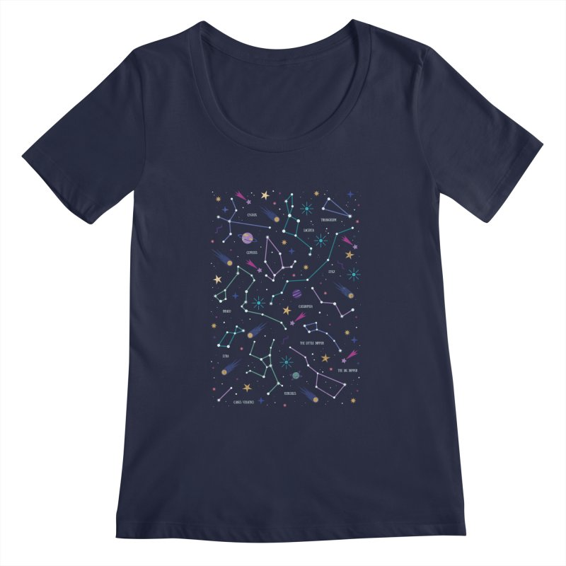 The Stars Women's Regular Scoop Neck by carlywatts's Shop