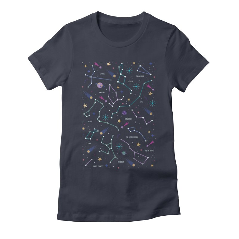 The Stars Women's Fitted T-Shirt by carlywatts's Shop