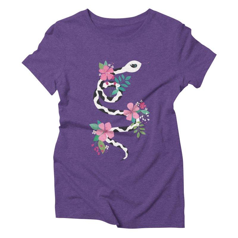 Dalmatian Snake Women's Triblend T-Shirt by carlywatts's Shop