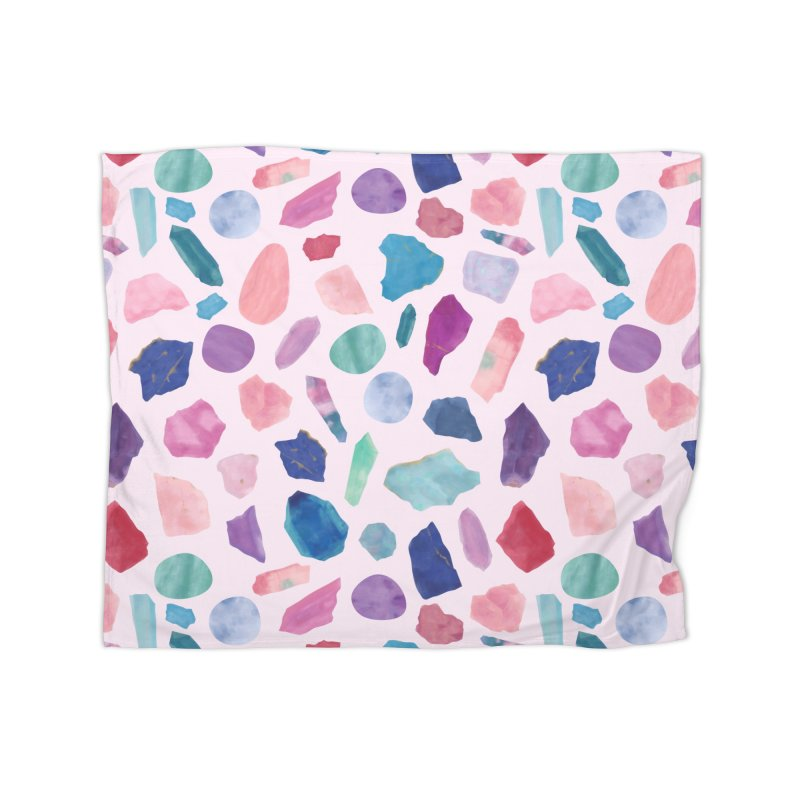 Crystalarium in Fleece Blanket Blanket by carlywatts's Shop