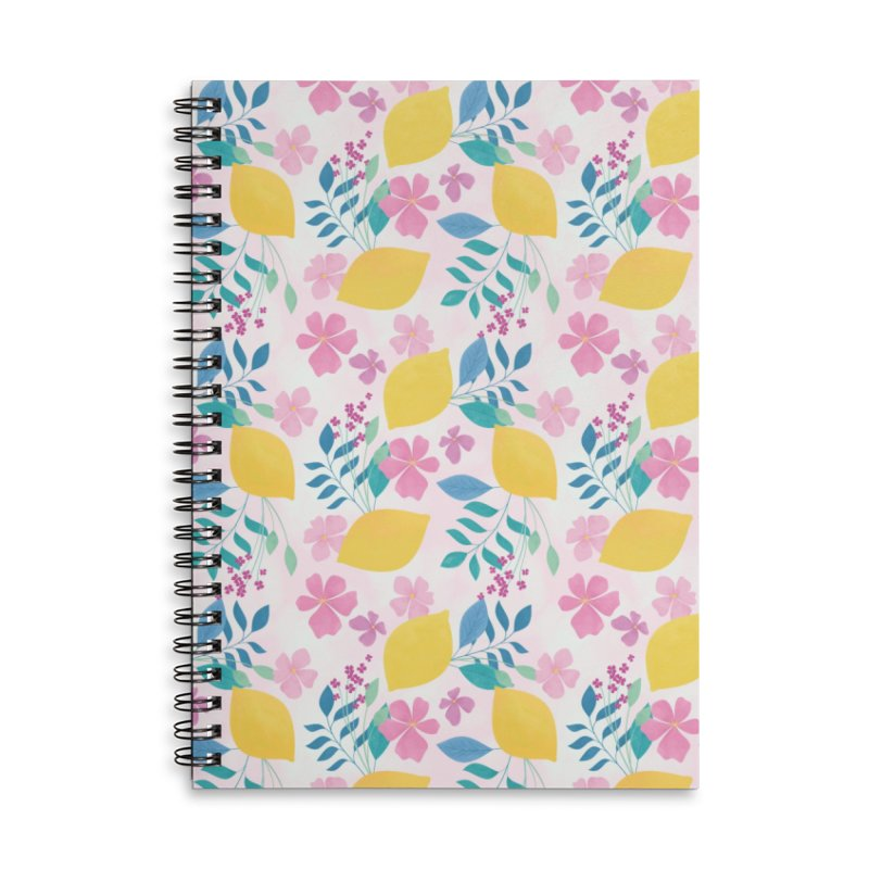 Limoncello Accessories Lined Spiral Notebook by carlywatts's Shop