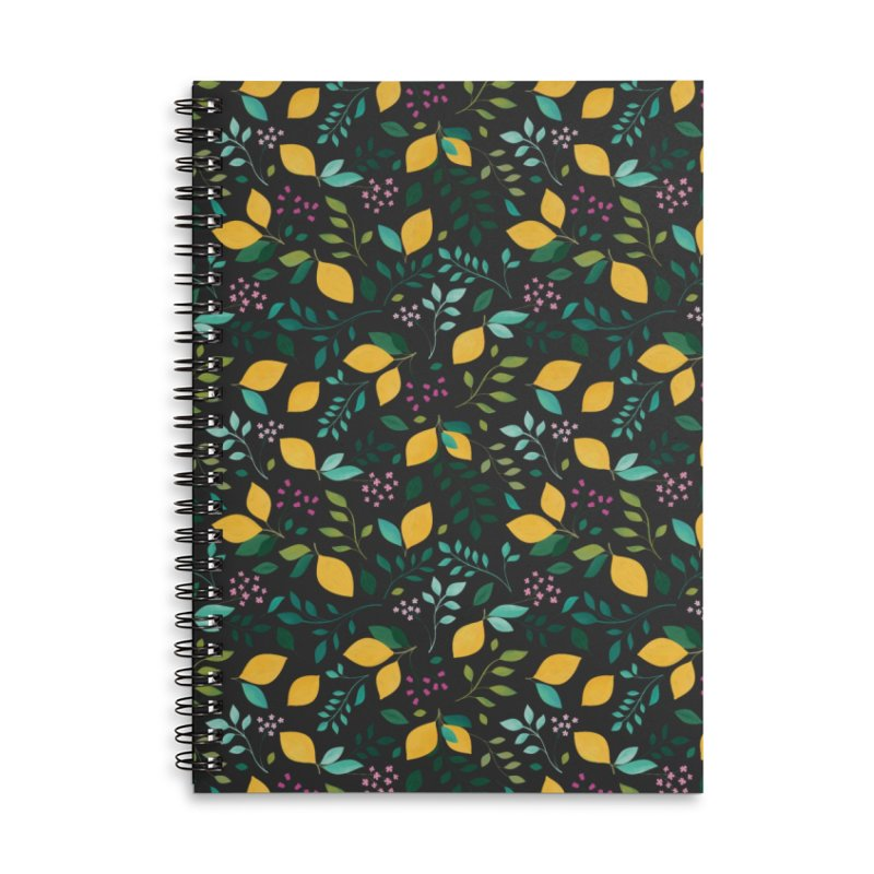 Lemon Grove Accessories Lined Spiral Notebook by carlywatts's Shop
