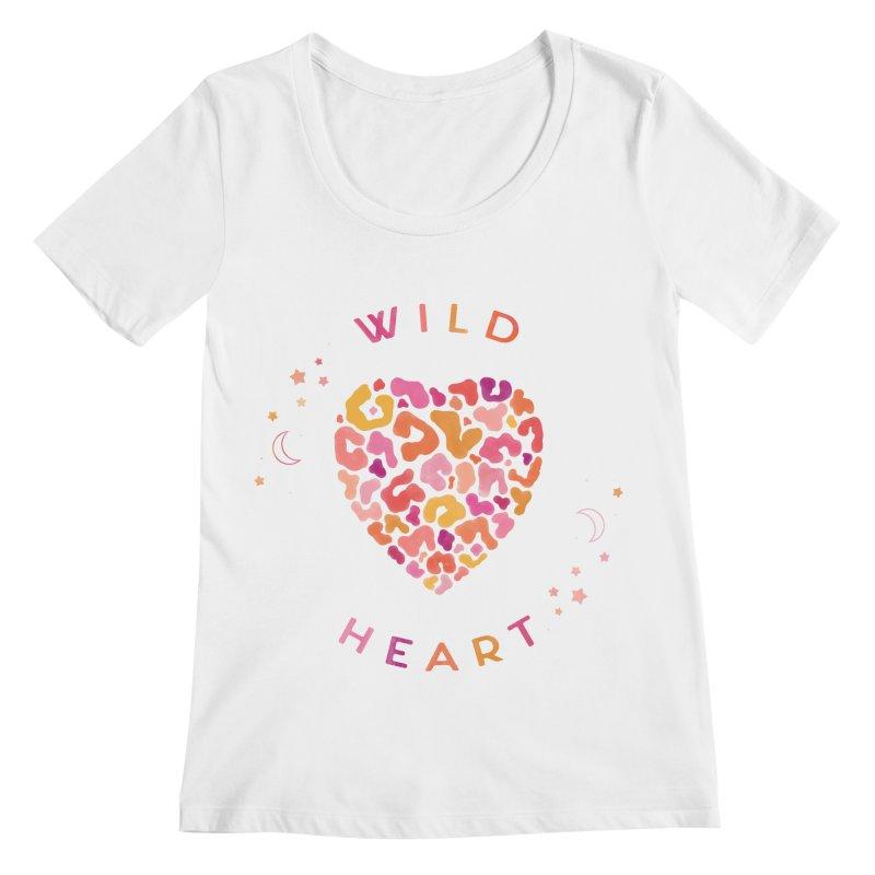 Wild Heart Women's Regular Scoop Neck by carlywatts's Shop