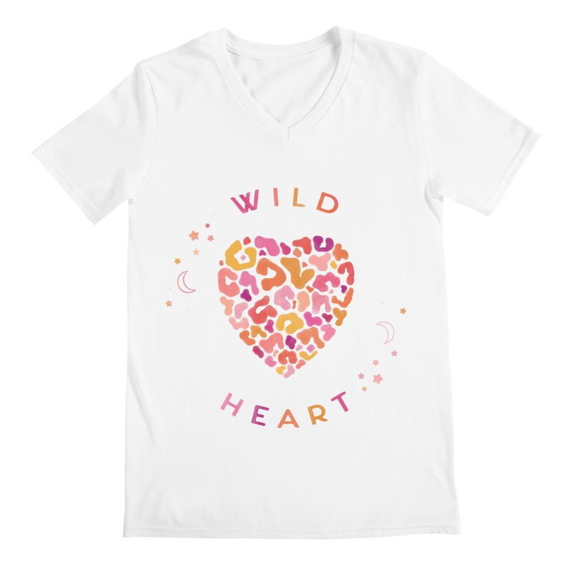 Wild Heart Men's Regular V-Neck by carlywatts's Shop