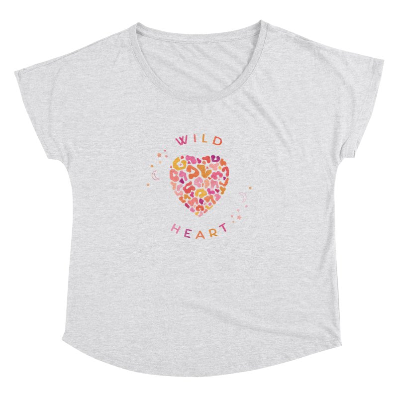 Wild Heart Women's Dolman Scoop Neck by carlywatts's Shop