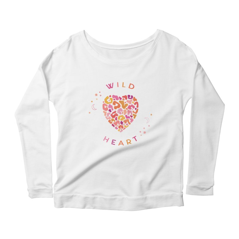 Wild Heart Women's Scoop Neck Longsleeve T-Shirt by carlywatts's Shop