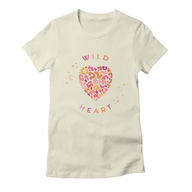 Wild Heart Women's Fitted T-Shirt by carlywatts's Shop