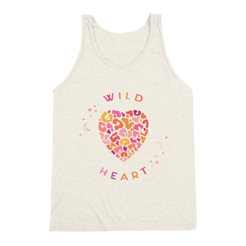 Wild Heart Men's Triblend Tank by carlywatts's Shop