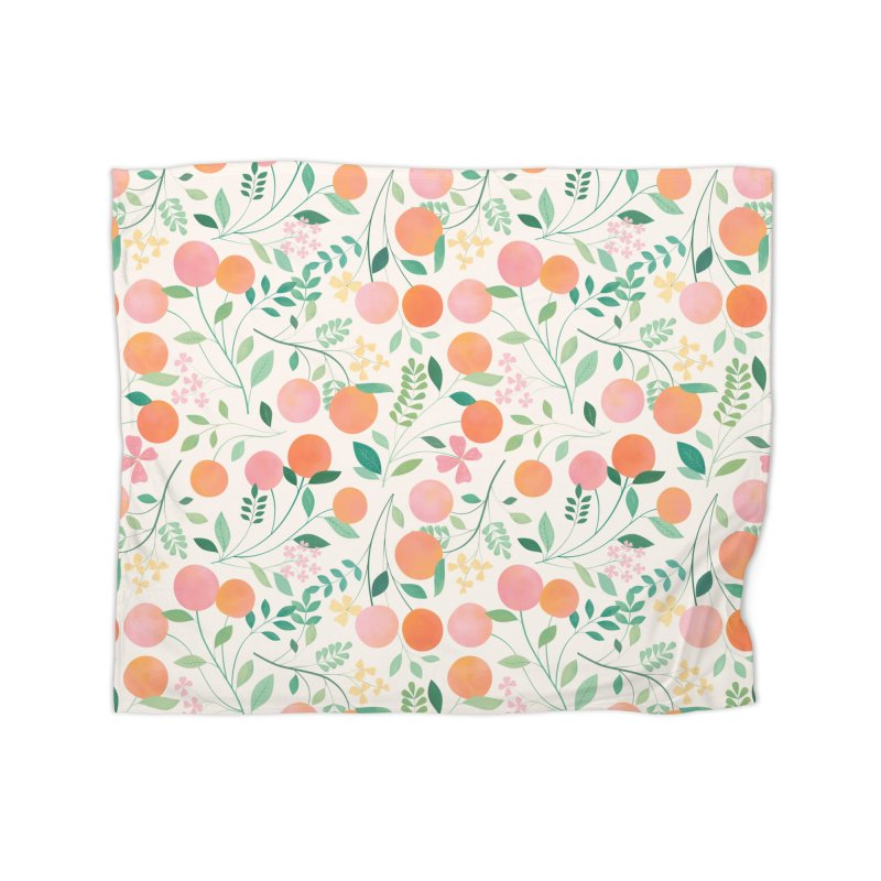 Vanilla Peaches Home Fleece Blanket Blanket by carlywatts's Shop