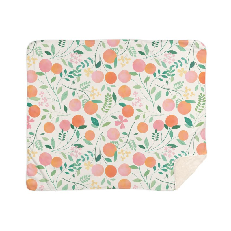 Vanilla Peaches Home Sherpa Blanket Blanket by carlywatts's Shop