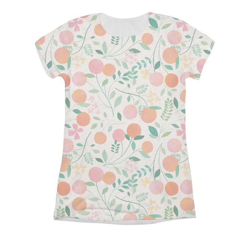 Vanilla Peaches Women's Triblend All Over Print by carlywatts's Shop
