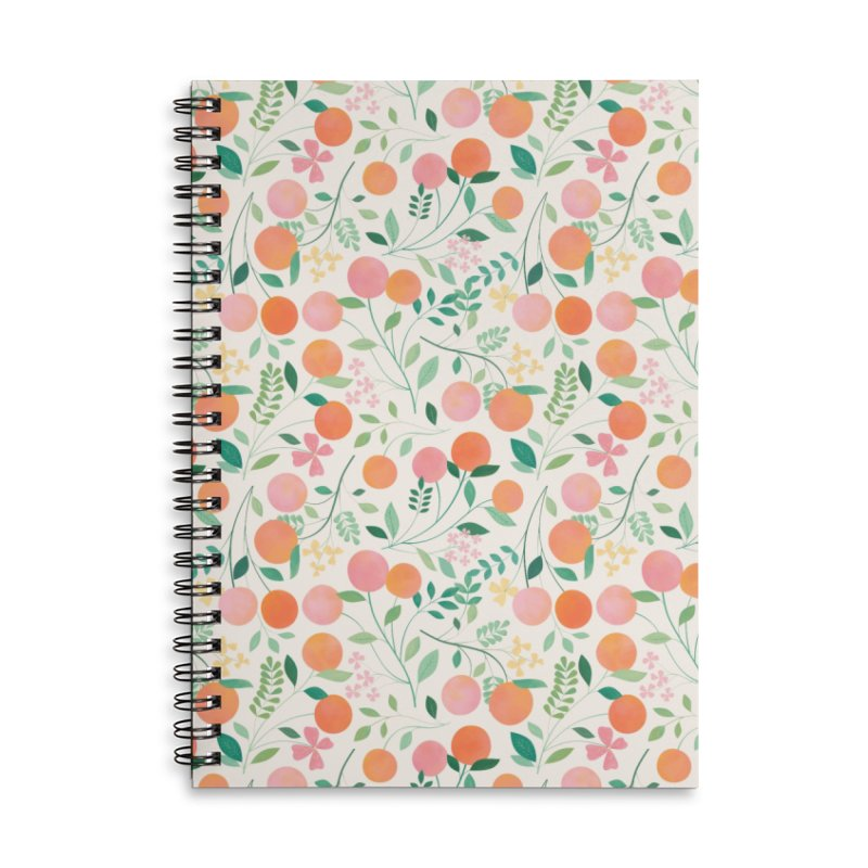 Vanilla Peaches Accessories Lined Spiral Notebook by carlywatts's Shop