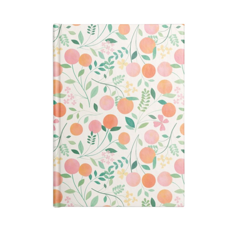 Vanilla Peaches Accessories Lined Journal Notebook by carlywatts's Shop