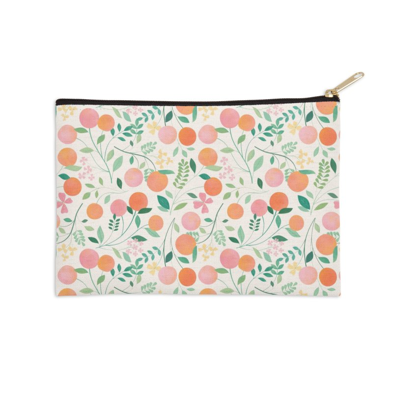 Vanilla Peaches Accessories Zip Pouch by carlywatts's Shop