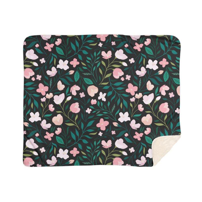 Wild Jasmine Home Sherpa Blanket Blanket by carlywatts's Shop