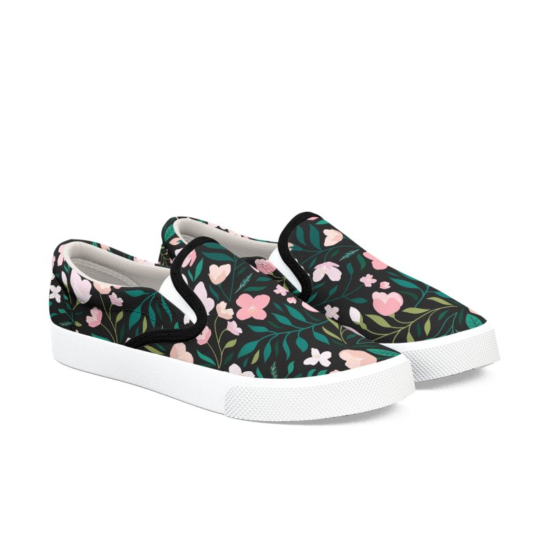 Wild Jasmine Men's Slip-On Shoes by carlywatts's Shop