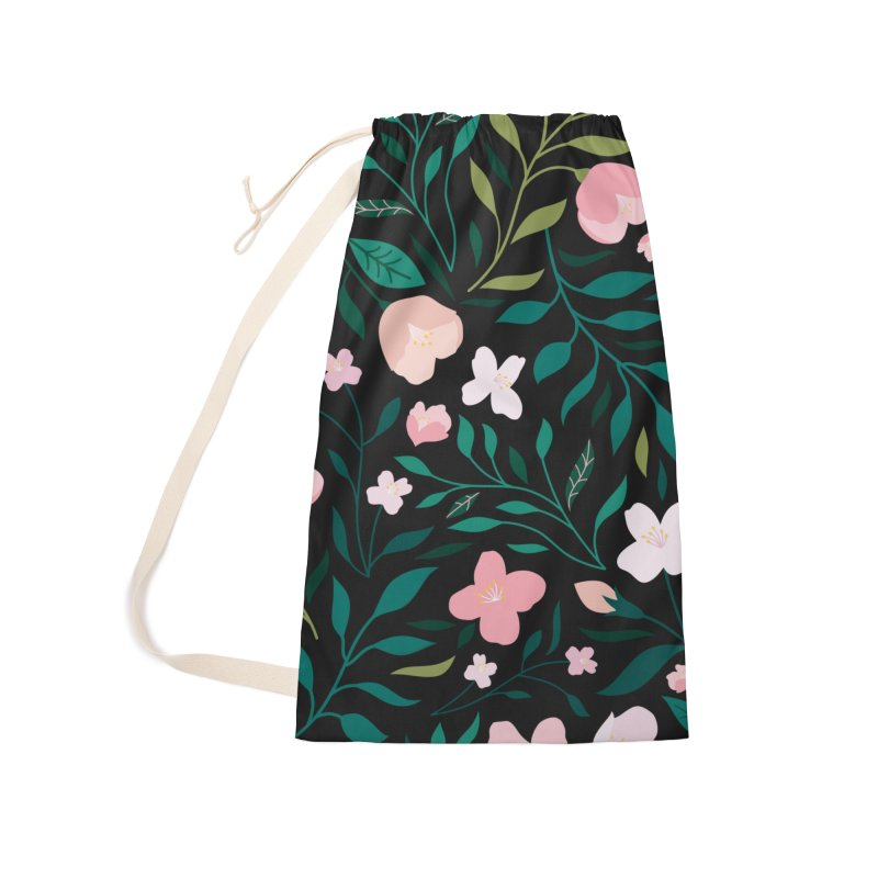 Wild Jasmine Accessories Laundry Bag Bag by carlywatts's Shop