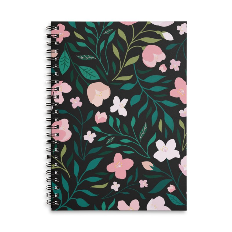Wild Jasmine Accessories Lined Spiral Notebook by carlywatts's Shop
