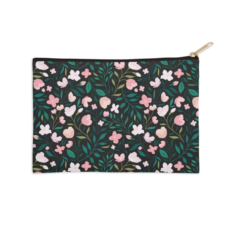 Wild Jasmine Accessories Zip Pouch by carlywatts's Shop