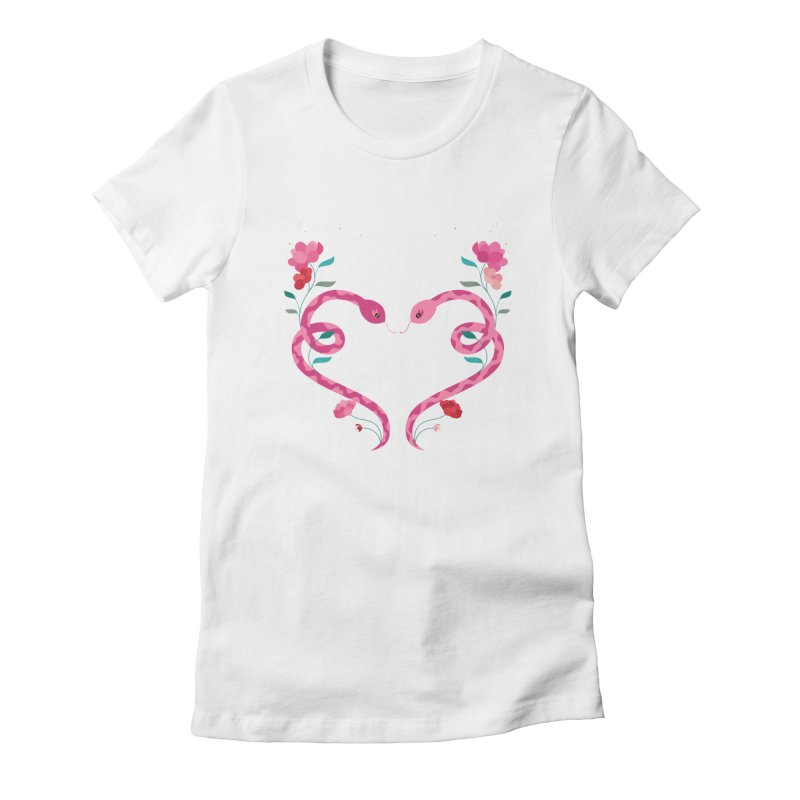 Charm in Women's Fitted T-Shirt White by carlywatts's Shop