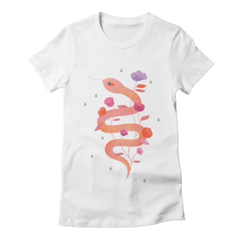 Sun Serpent Women's Fitted T-Shirt by carlywatts's Shop