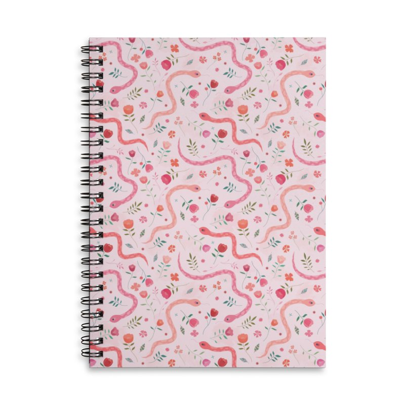 Sugar Serpents Accessories Lined Spiral Notebook by carlywatts's Shop