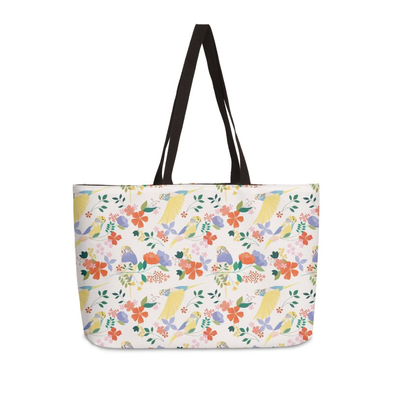 Parakeets Accessories Weekender Bag Bag by carlywatts's Shop