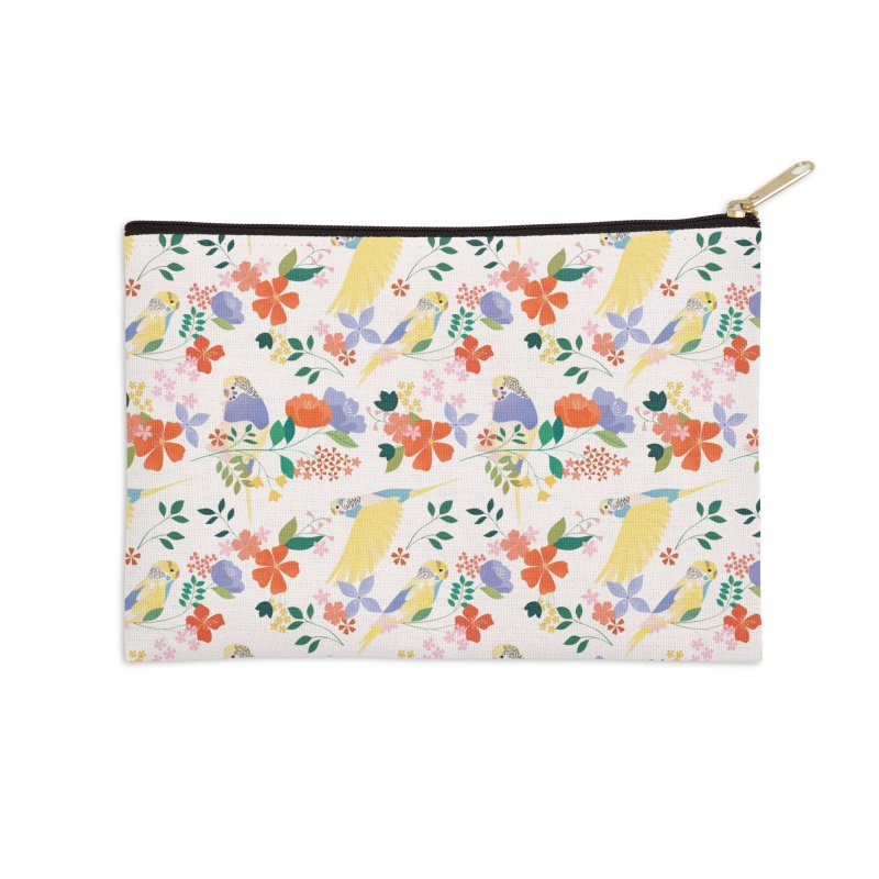Parakeets Accessories Zip Pouch by carlywatts's Shop