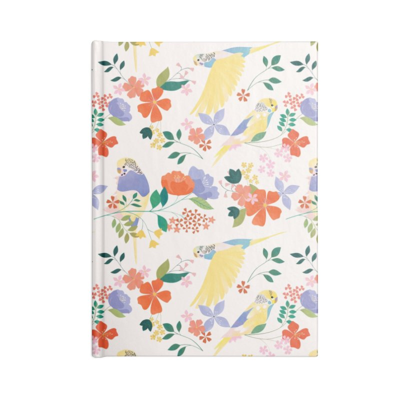 Parakeets Accessories Lined Journal Notebook by carlywatts's Shop