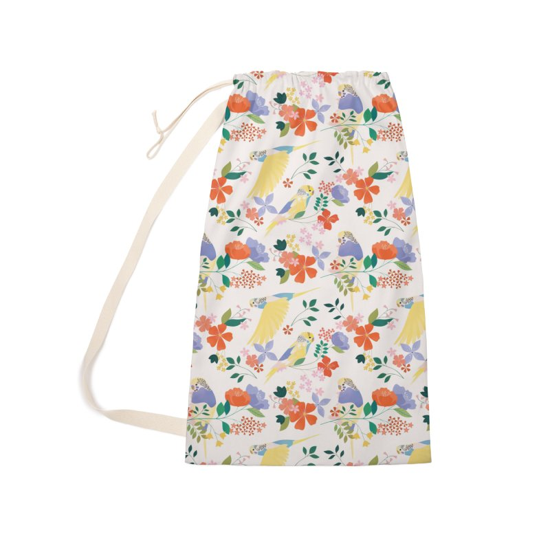 Parakeets Accessories Laundry Bag Bag by carlywatts's Shop