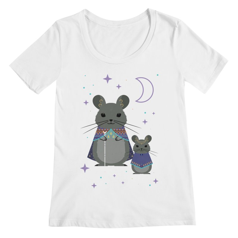 Chinchilla Mage Women's Scoopneck by carlywatts's Shop
