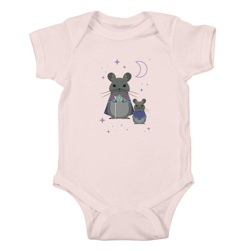 Chinchilla Mage Kids Baby Bodysuit by carlywatts's Shop