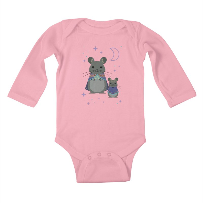 Chinchilla Mage Kids Baby Longsleeve Bodysuit by carlywatts's Shop