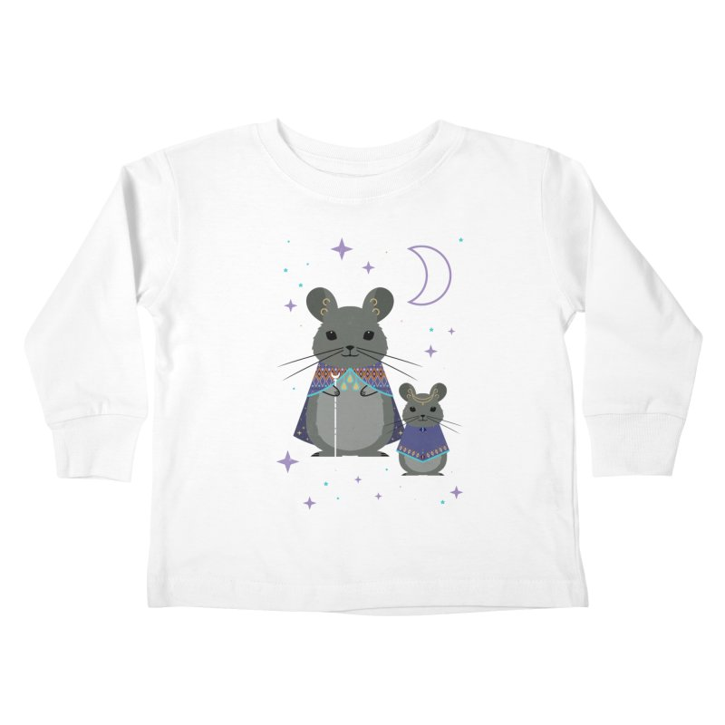 Chinchilla Mage Kids Toddler Longsleeve T-Shirt by carlywatts's Shop