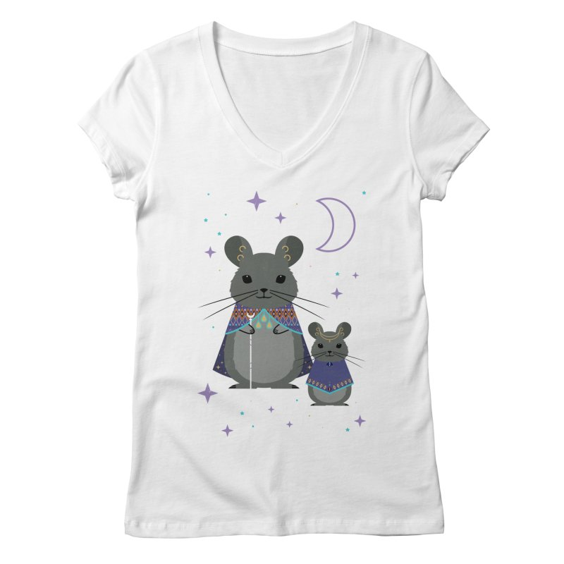 Chinchilla Mage Women's V-Neck by carlywatts's Shop