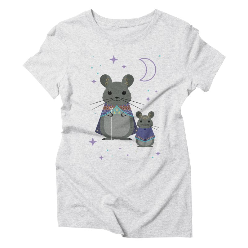 Chinchilla Mage Women's Triblend T-shirt by carlywatts's Shop
