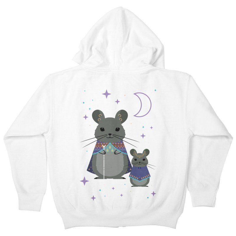 Chinchilla Mage Kids Zip-Up Hoody by carlywatts's Shop