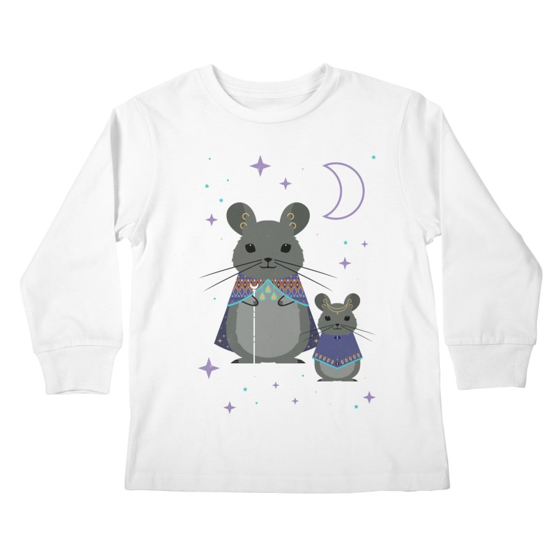 Chinchilla Mage Kids Longsleeve T-Shirt by carlywatts's Shop