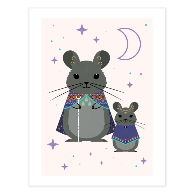 Chinchilla Mage Home Fine Art Print by carlywatts's Shop