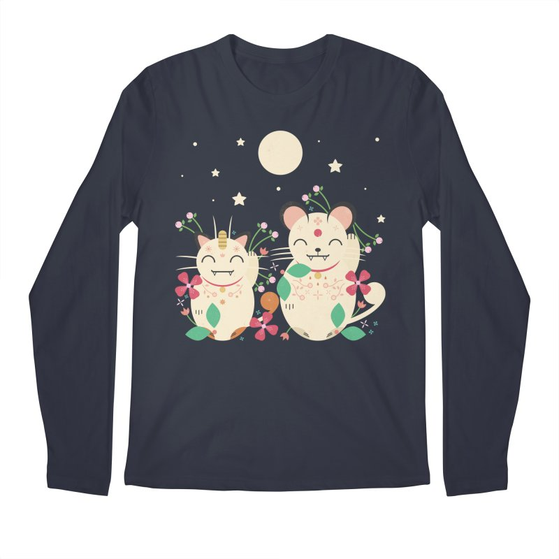 Lucky Cats  Men's Longsleeve T-Shirt by carlywatts's Shop