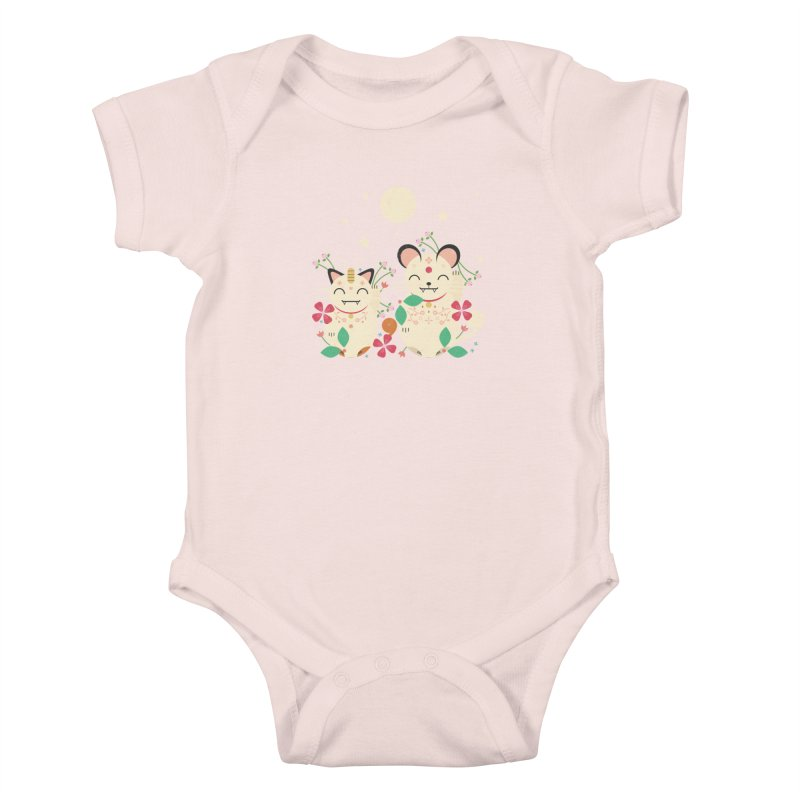 Lucky Cats  Kids Baby Bodysuit by carlywatts's Shop