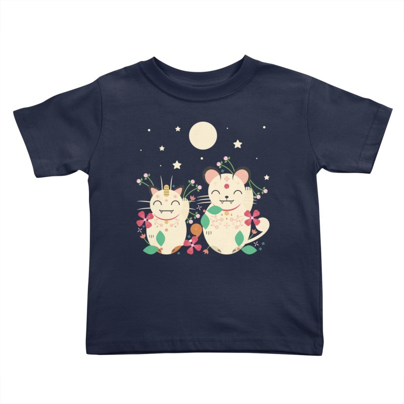 Lucky Cats  Kids Toddler T-Shirt by carlywatts's Shop