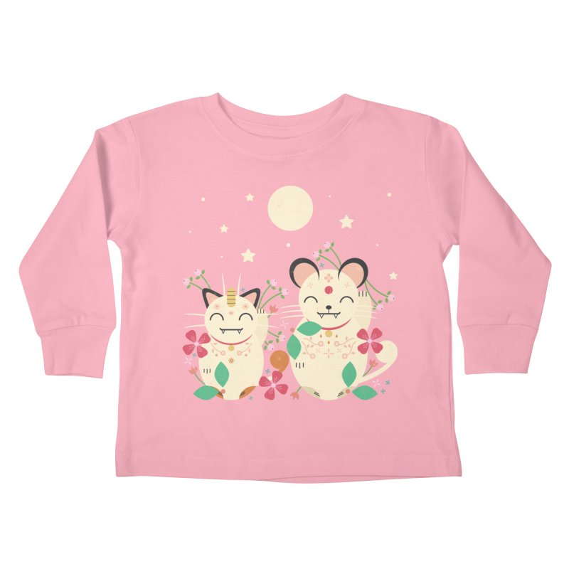 Lucky Cats  Kids Toddler Longsleeve T-Shirt by carlywatts's Shop