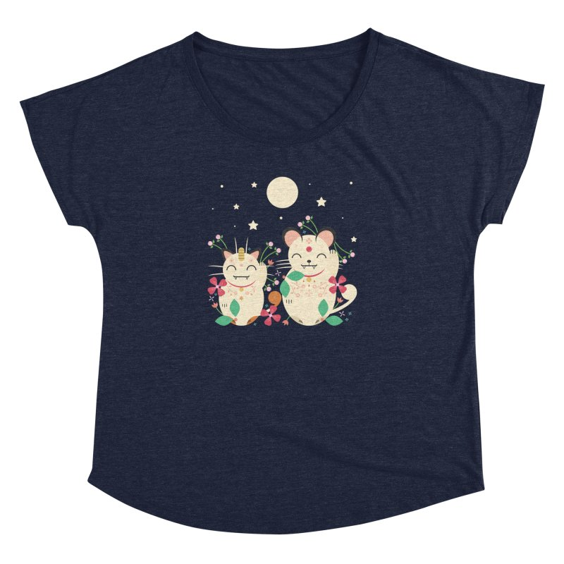 Lucky Cats  Women's Dolman by carlywatts's Shop