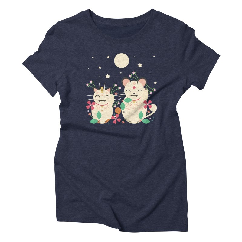 Lucky Cats  Women's Triblend T-Shirt by carlywatts's Shop