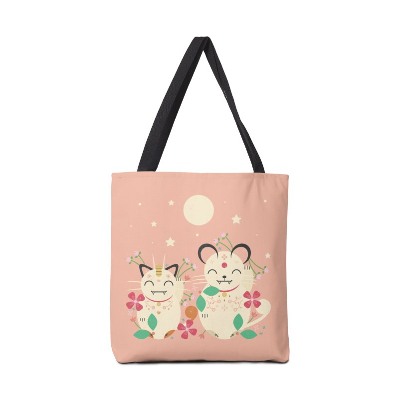 Lucky Cats  Accessories Bag by carlywatts's Shop