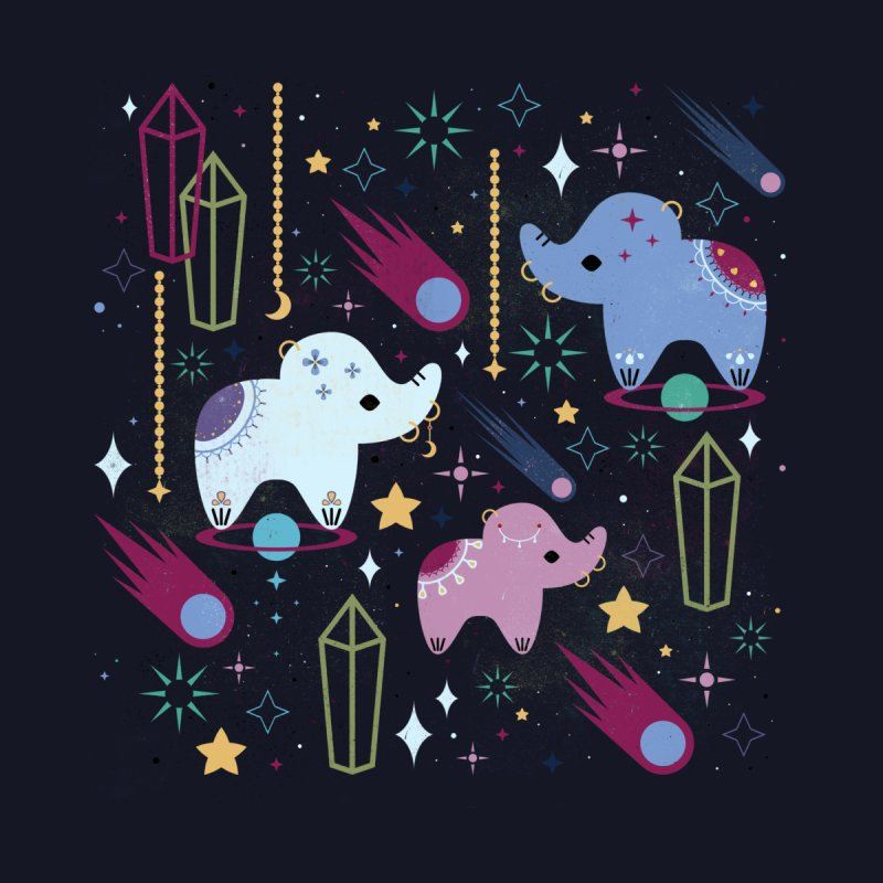 Elephants in Space  Men's T-shirt by carlywatts's Shop