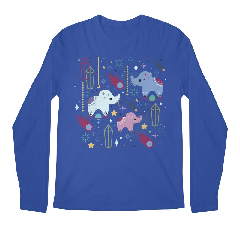Elephants in Space  Men's Longsleeve T-Shirt by carlywatts's Shop